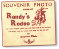 souvenir photo from Randy's Rodeo